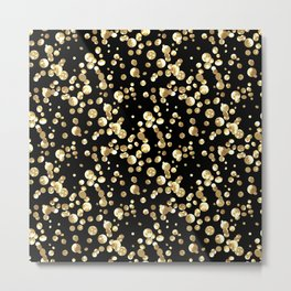 Golden confetti. Brilliant . Metal Print