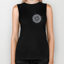 Snowflake on Black Biker Tank