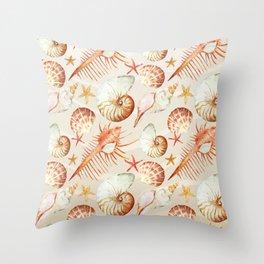 Marine Pattern 06 Throw Pillow