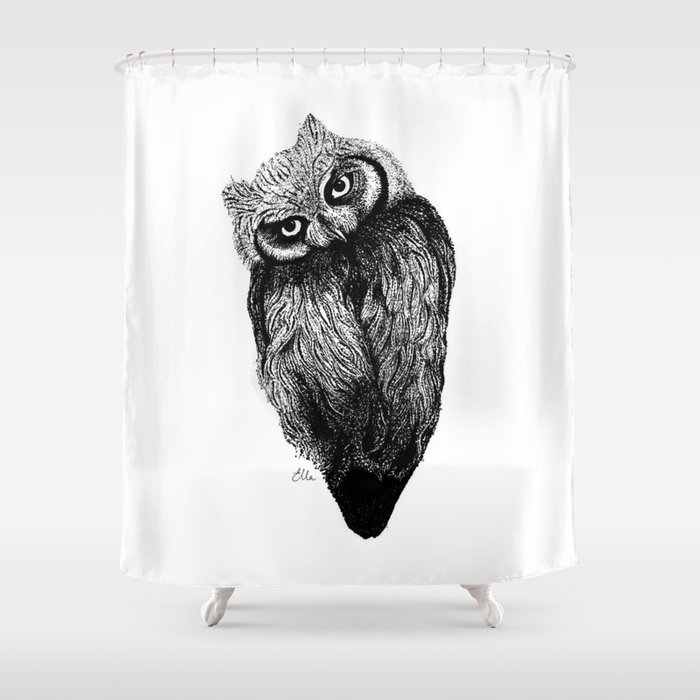 Scops Owl  Shower Curtain