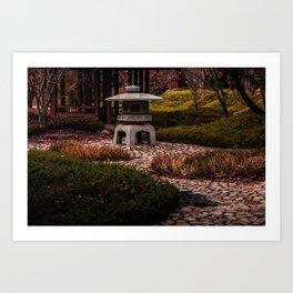 Japanese secret garden Art Print