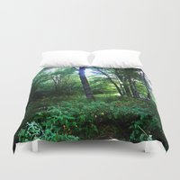 once upon a  time Duvet Covers featuring Once upon a time  by Françoise Reina