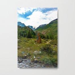garden further alps kaunertal glacier tyrol austria europe Metal Print