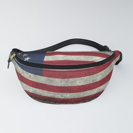Betsy Ross flag, distressed textures Fanny Pack