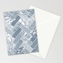 Hygge Style Textured Herringbone Pattern – Grey Stationery Cards
