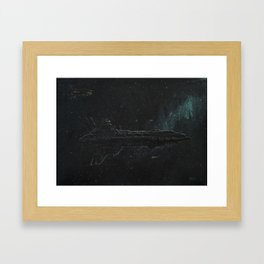 The Thanatos at anchor near the Adriatic Clouds Framed Art Print