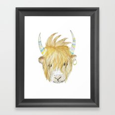 Yakety Yak Striped Illustration  Framed Art Print