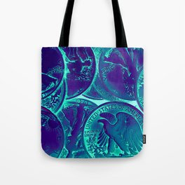 Vintage Coins Pop Art Tote Bag