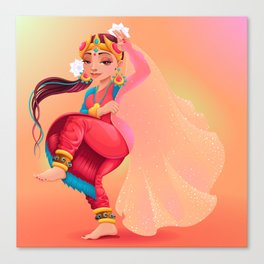 Indian dancer representing the veil of Maya Canvas Print