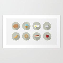 Eat your Breakfast! Art Print