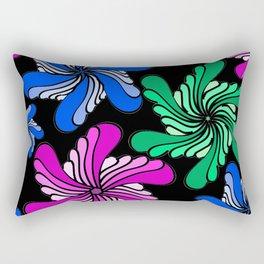 PinWheels on Black Rectangular Pillow
