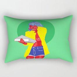 Pizza Titty Rectangular Pillow