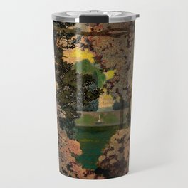 The oaks, the garden of years and other poems floral portrait by Maxfield Parrish Travel Mug