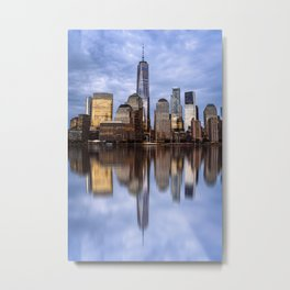 Cityscape of Financial District of New York Metal Print