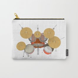 Orange Drum Kit Carry-All Pouch