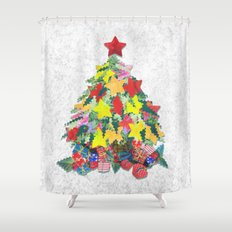 Santa's Work is Done Shower Curtain