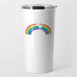 Medal Unicorn Rainbow Colorful Birthday Gift For Your Wife And Husband For Their 40th Birthday Natal Travel Mug