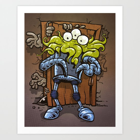 monsters at the door Art Print