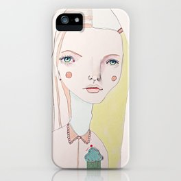 The Girl with the Cupcake for a Heart iPhone Case
