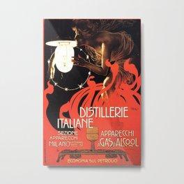 Vintage poster - Distillerie Italiane Metal Print