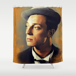 Buster Keaton, Hollywood Legend Shower Curtain