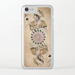 Arabesque Deck of Cards Jack Clubs Clear iPhone Case