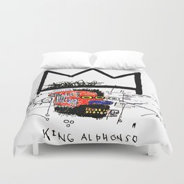 Jean-Michel Basquiat - King Alphonso 1983 Duvet Cover