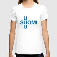 finland T-shirts featuring FINLAND by eyesblau