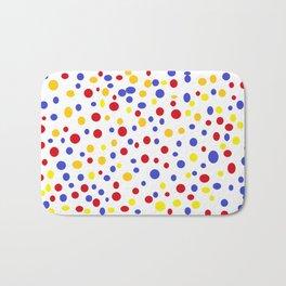 drops of colourful dots Bath Mat