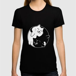 Yin Yang Cats Cute graphic for Cat Lovers T-shirt