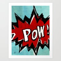 comic book Art Prints featuring Comic Book: Pow! by Ed Pires