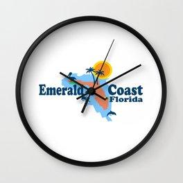 Emerald Coast - Florida . Wall Clock