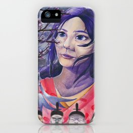 Cherry Blossom Girl iPhone Case