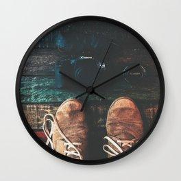 SHOES - CANON - CAMERA - PHOTOGRAPHY Wall Clock
