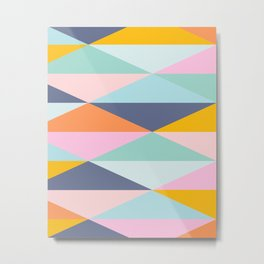 Colorful Triangle Geometry Metal Print
