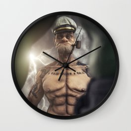 Popeye vs. Hulk Wall Clock