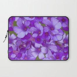 Purple Oxalis Laptop Sleeve