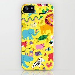Animal Parade iPhone Case
