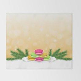 Christmas macaron Throw Blanket