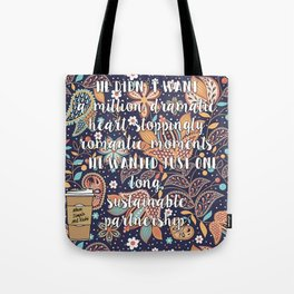 When Dimple Met Rishi quote Tote Bag