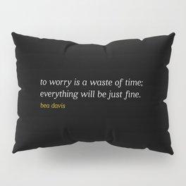 Bea Davis—Black Pillow Sham