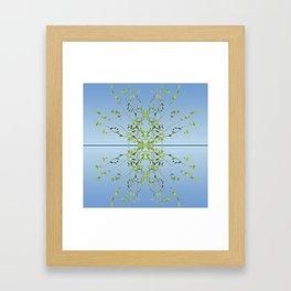 Birch on blue Framed Art Print
