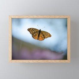 Orange Butterfly Framed Mini Art Print