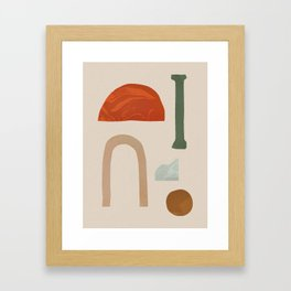 Shapes from Rome Framed Art Print
