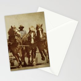 Team Of Horses Stationery Cards