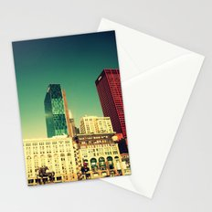 Chicago Retro Skyline ~ architecture Stationery Cards
