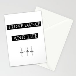 I Love... black 2 Stationery Cards