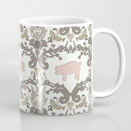 pig damask Coffee Mug
