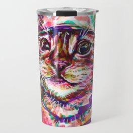 Quirky Cat Travel Mug
