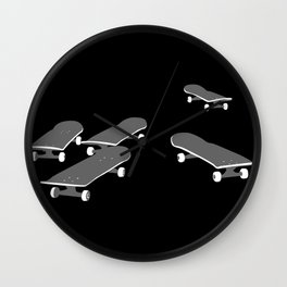 Skateboards Wall Clock